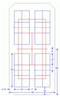 measurement of tennis court with diagram refrigerator compressor wiring how to convert courts pickleball one converted into four