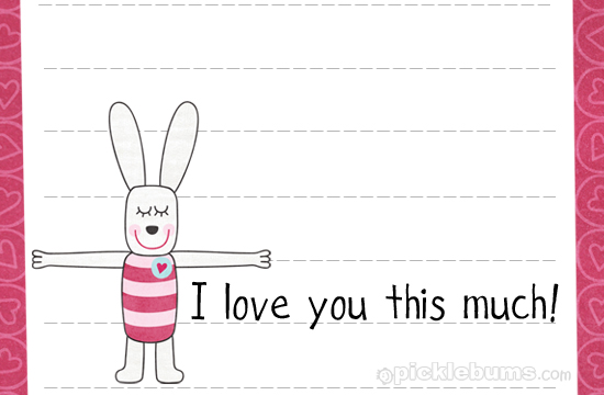 Cute Notepad Wallpaper Printable Love Or Lunch Box Notes Picklebums