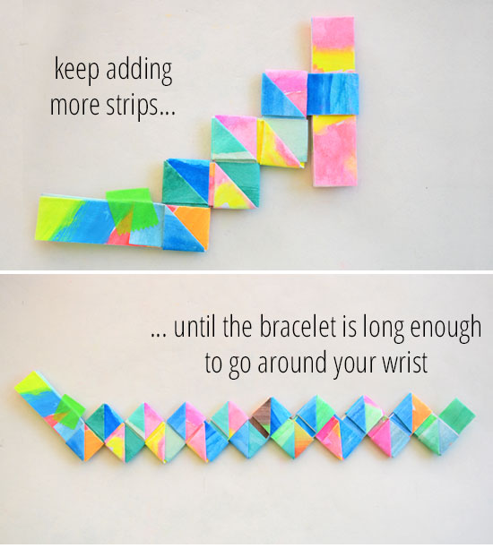 diagram origami bracelet 3 wire single coil pickup wiring how to make folded paper bracelets picklebums this lovely
