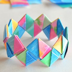 Diagram Origami Bracelet Steering Wheel Control Wiring Diagrams How To Make Folded Paper Bracelets Picklebums
