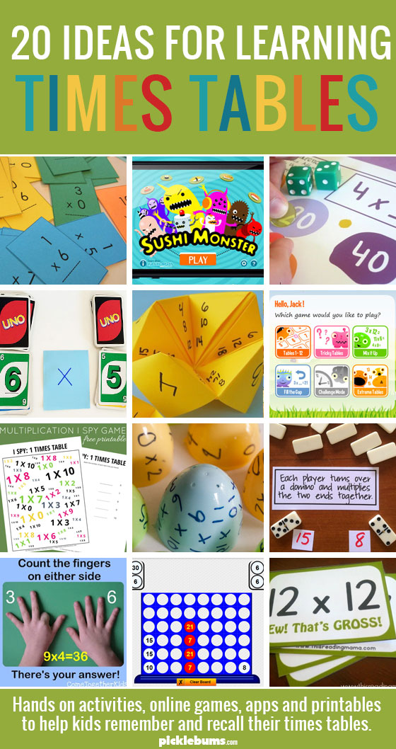 Helping Kids Learn Their Times Tables Picklebums