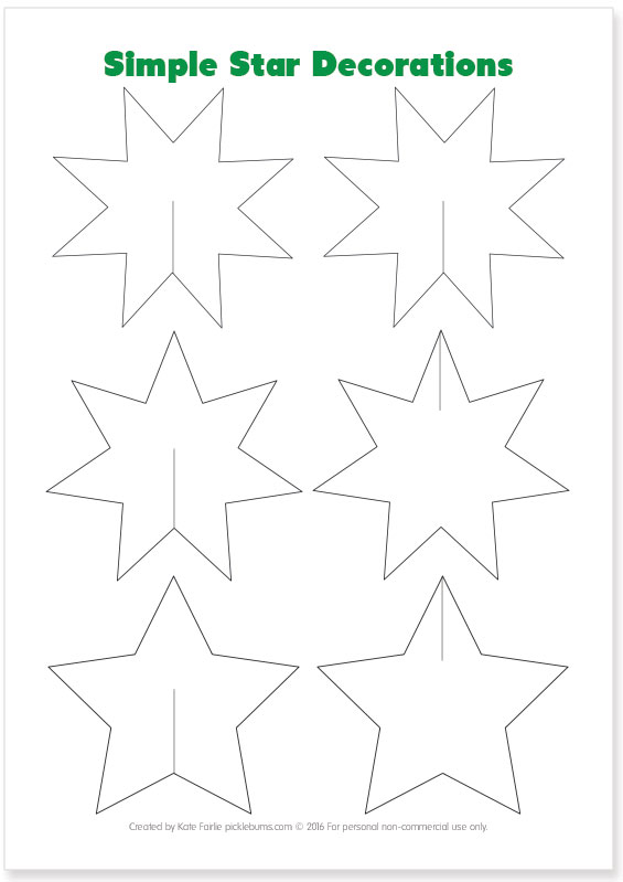 Easy to Make Christmas Star Decorations  Picklebums