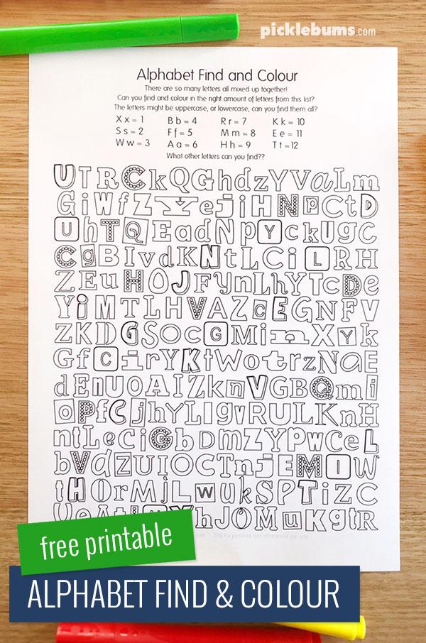 find the alphabet # 7