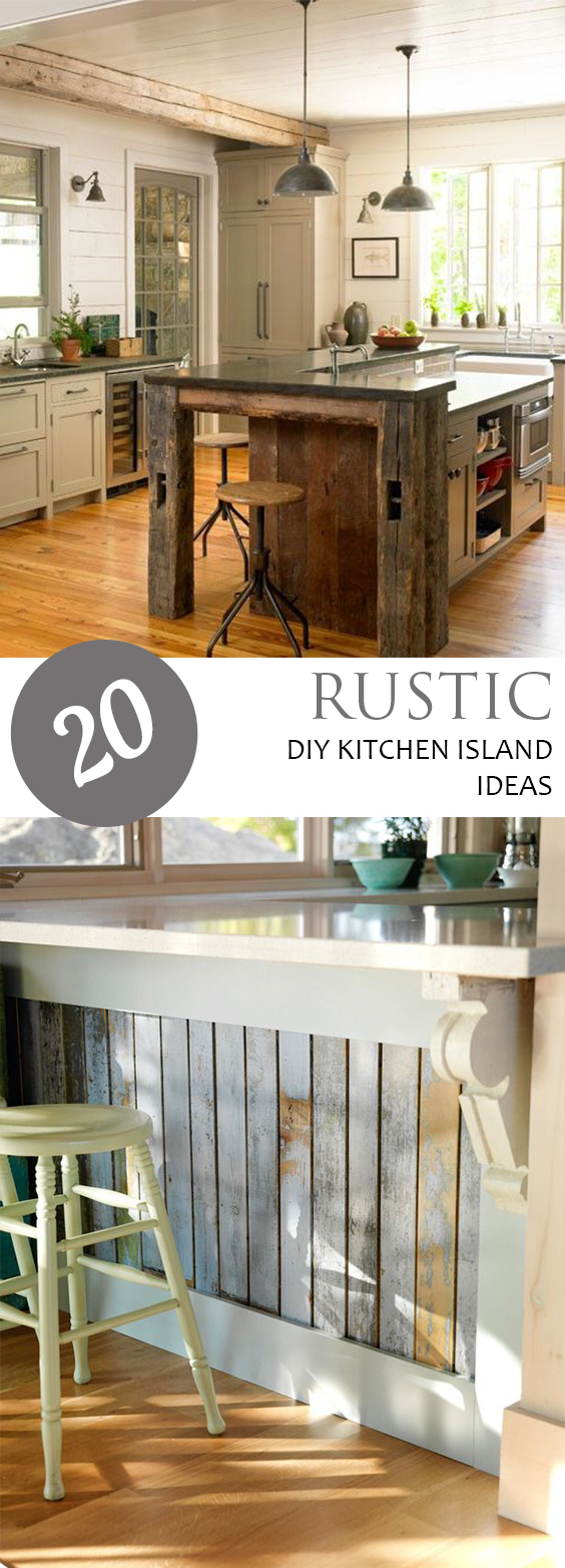 20 Rustic DIY Kitchen Island Ideas  Pickled Barrel