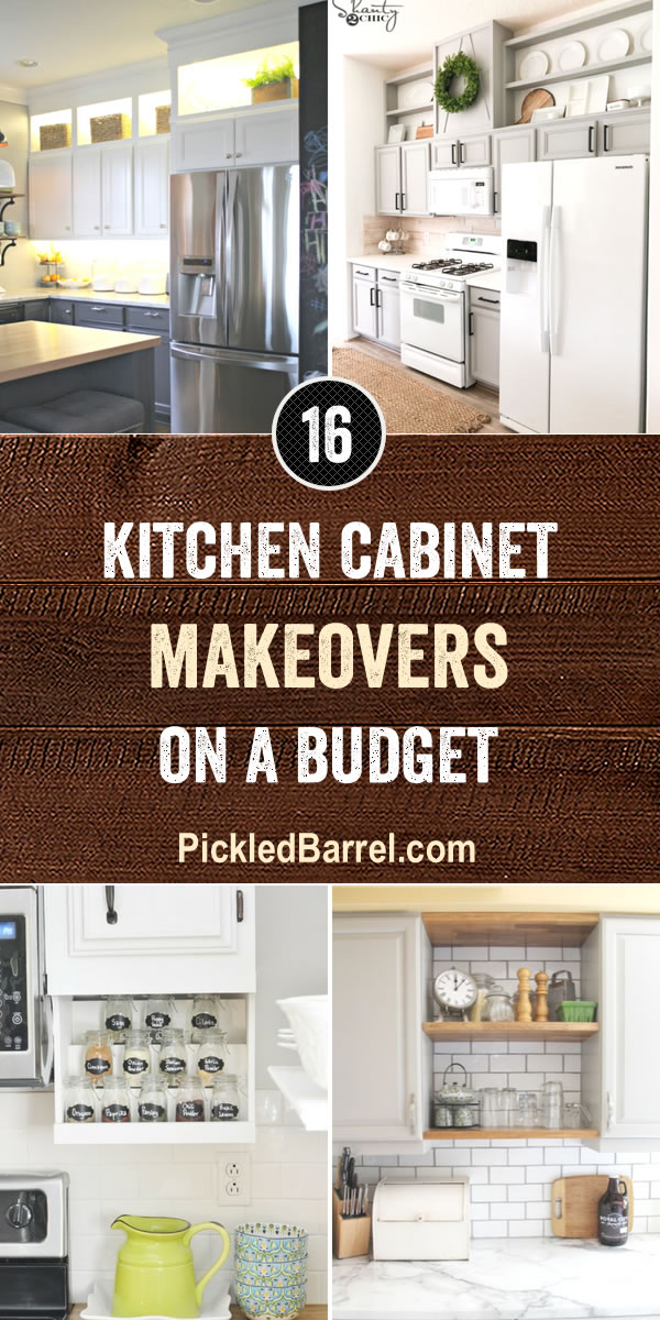 kitchen cabinet makeovers aid mixer covers cabinets on a budget pickled barrel pickledbarrel com