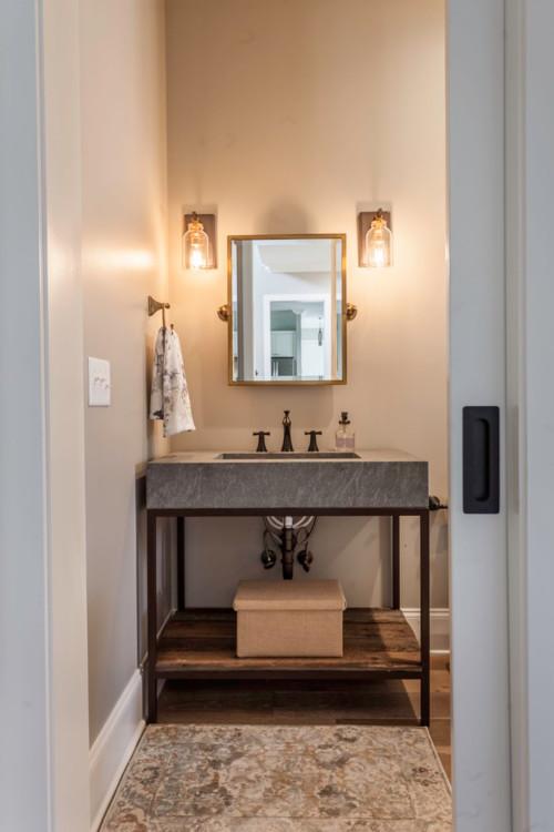 neutral modern farmhouse bathroom ideas