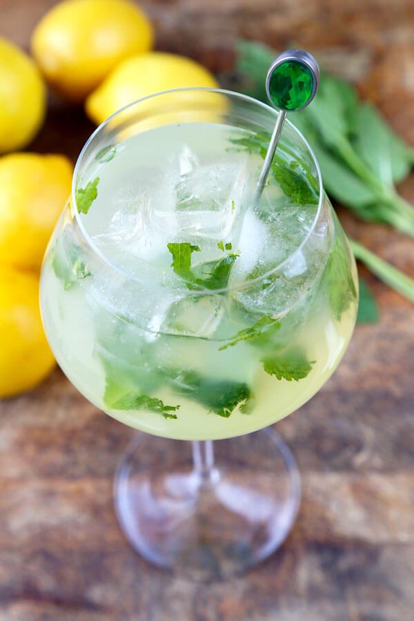 Mint Lemonade Recipe Low Sugar  Pickled Plum Food And