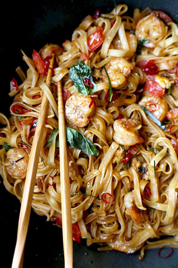 Drunken Noodles  Pad Kee Mao  Pickled Plum Food And Drinks