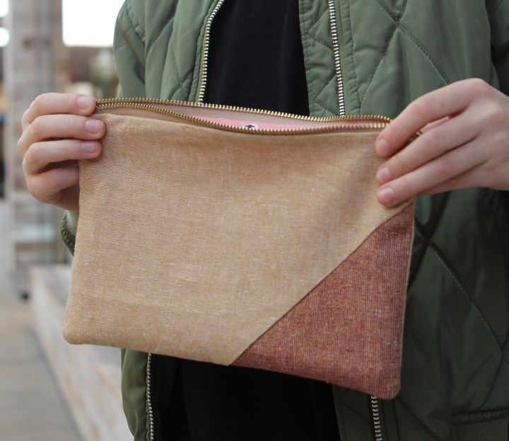 Linen Zippered Pouches