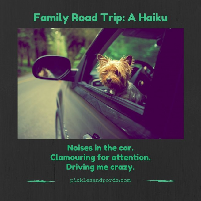 Family road trip haiku