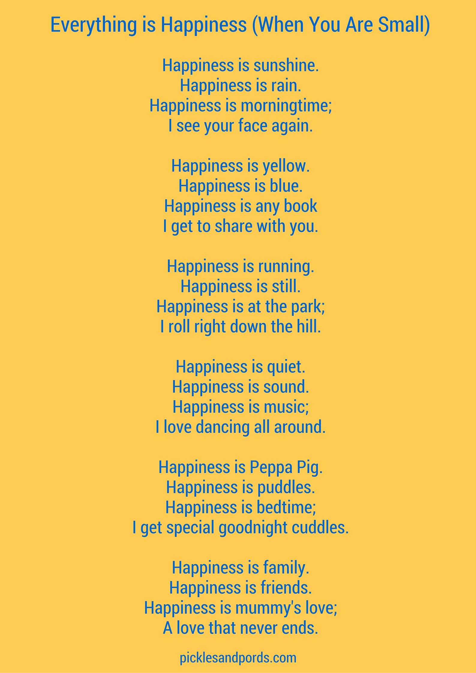Happiness Poems - Poems For Happiness - - Poem by | Poem Hunter