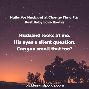 husband looks at mehis eyes a silent questioncan you smell that too?