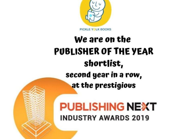 We are Shortlisted for Publisher of the Year at the Publishing Next Industry Awards 2019