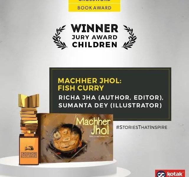 Richa Jha and Sumanta Dey win the Crossword Book Award for MACHHER JHOL