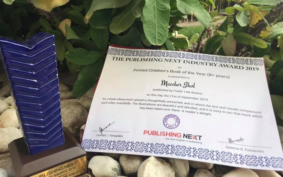 MACHHER JHOL wins the Printed Children's Book at the Publishing Next Industry Award 2019