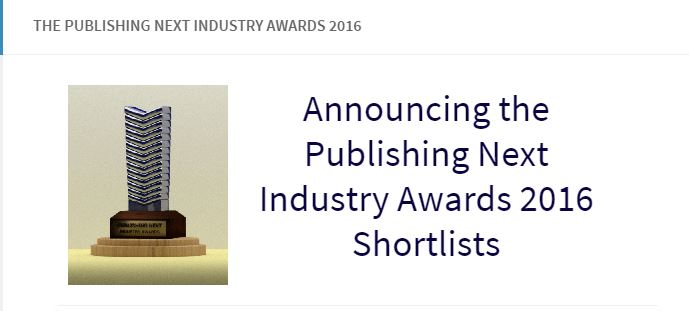 Love Like That is on the PUBLISHING NEXT INDUSTRY AWARDS 2016 shortlist!