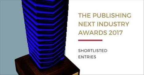 Boo! makes the Publishing Next Industry Awards 2017 Shortlist!