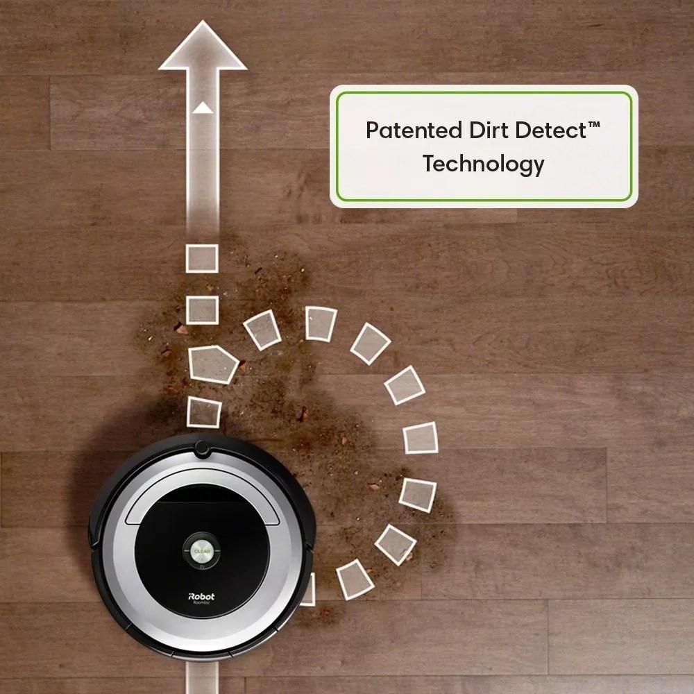 Roomba 690 Patented dirt detect sensors