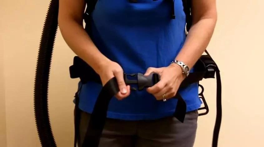 Adjust and tighten the waist strap