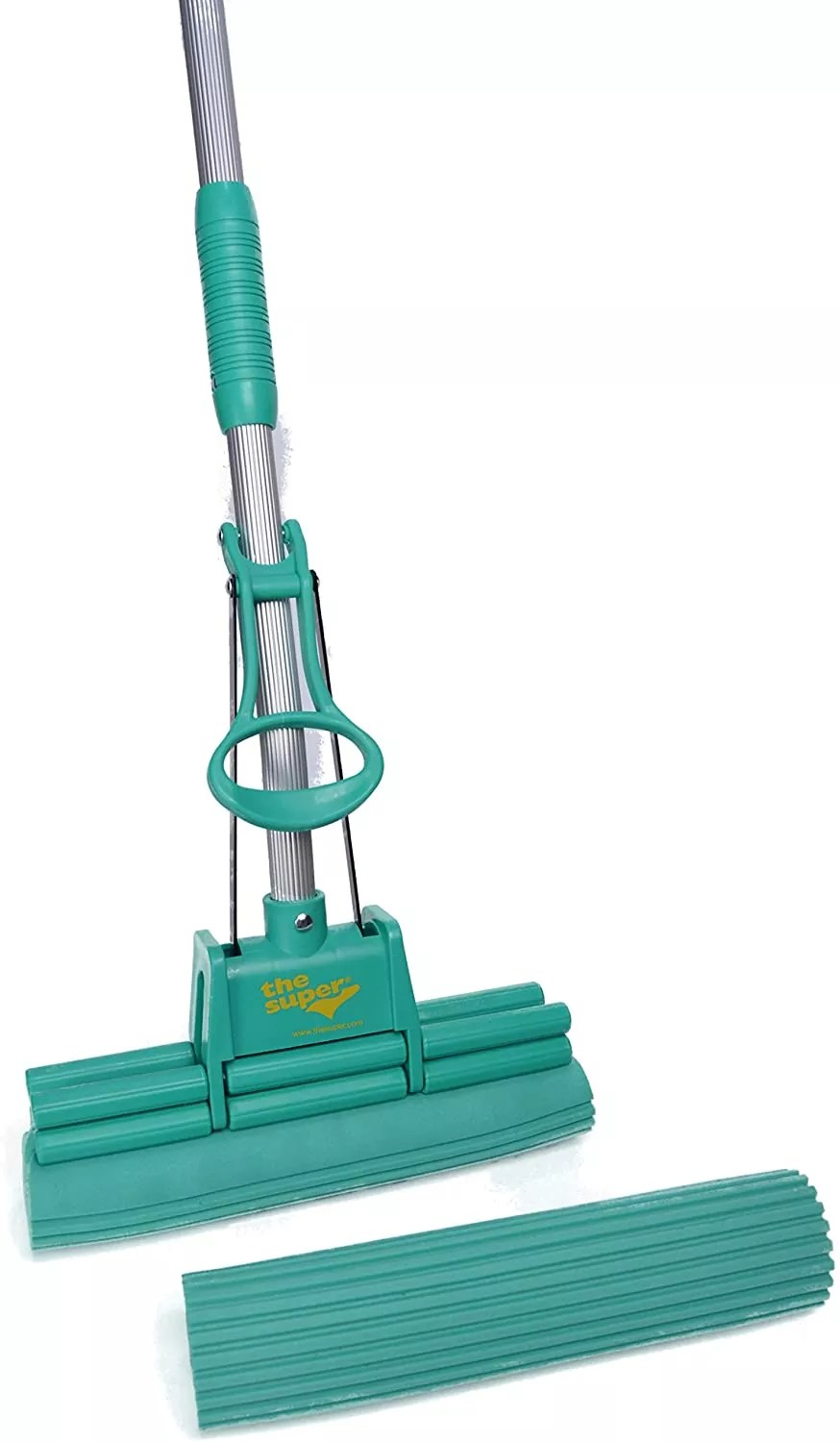 """The Super Standard 11"""" Double Roller PVA Sponge Mop Set (Mop and 1 Extra Refill)"""