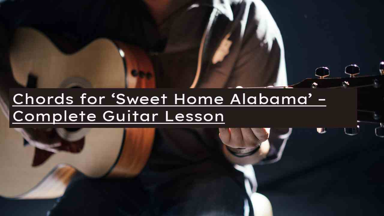 So you get the point. Sweet Home Alabama Chords How To Play Lynyrd Skynyrd Pick Up The Guitar