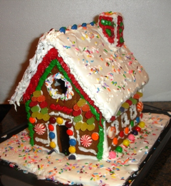 Homemade Gingerbread House Decorating Ideas House And Home Design