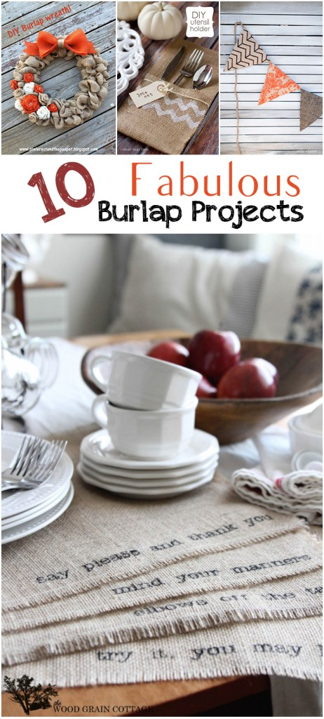 10 Fabulous Burlap Projects