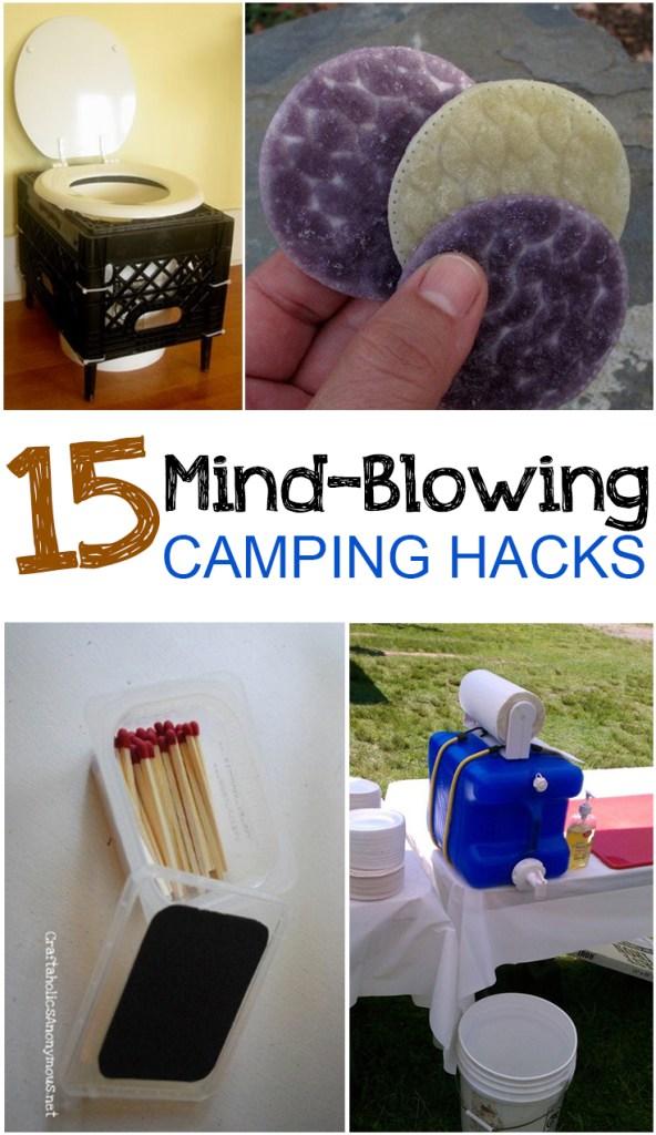 Camping hacks, camping tricks, summer, outdoor living, popular pin, camping, camping tips, camping recipes, outdoor activities.