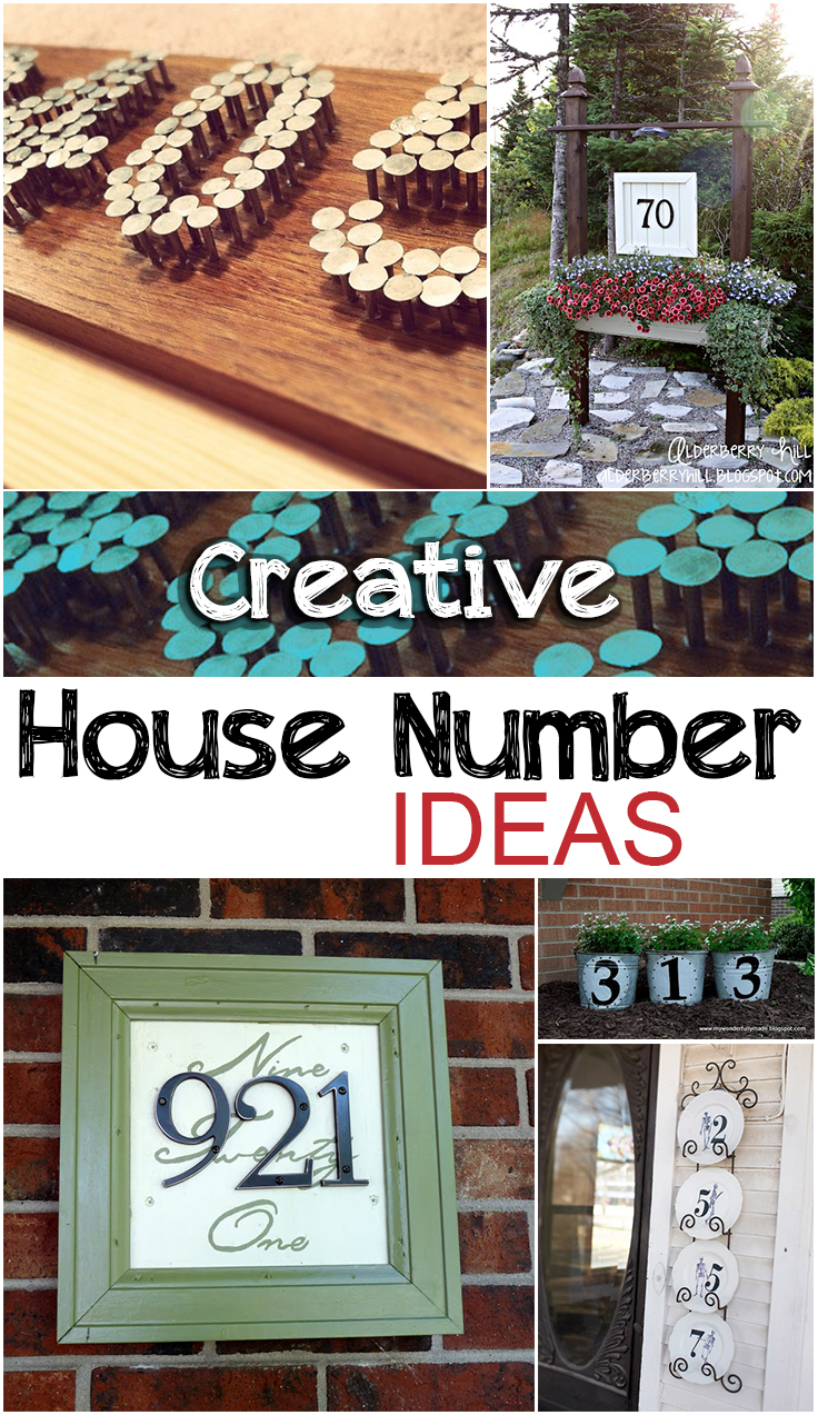 Creative house number ideas picky stitch for Creative design ideas for the home