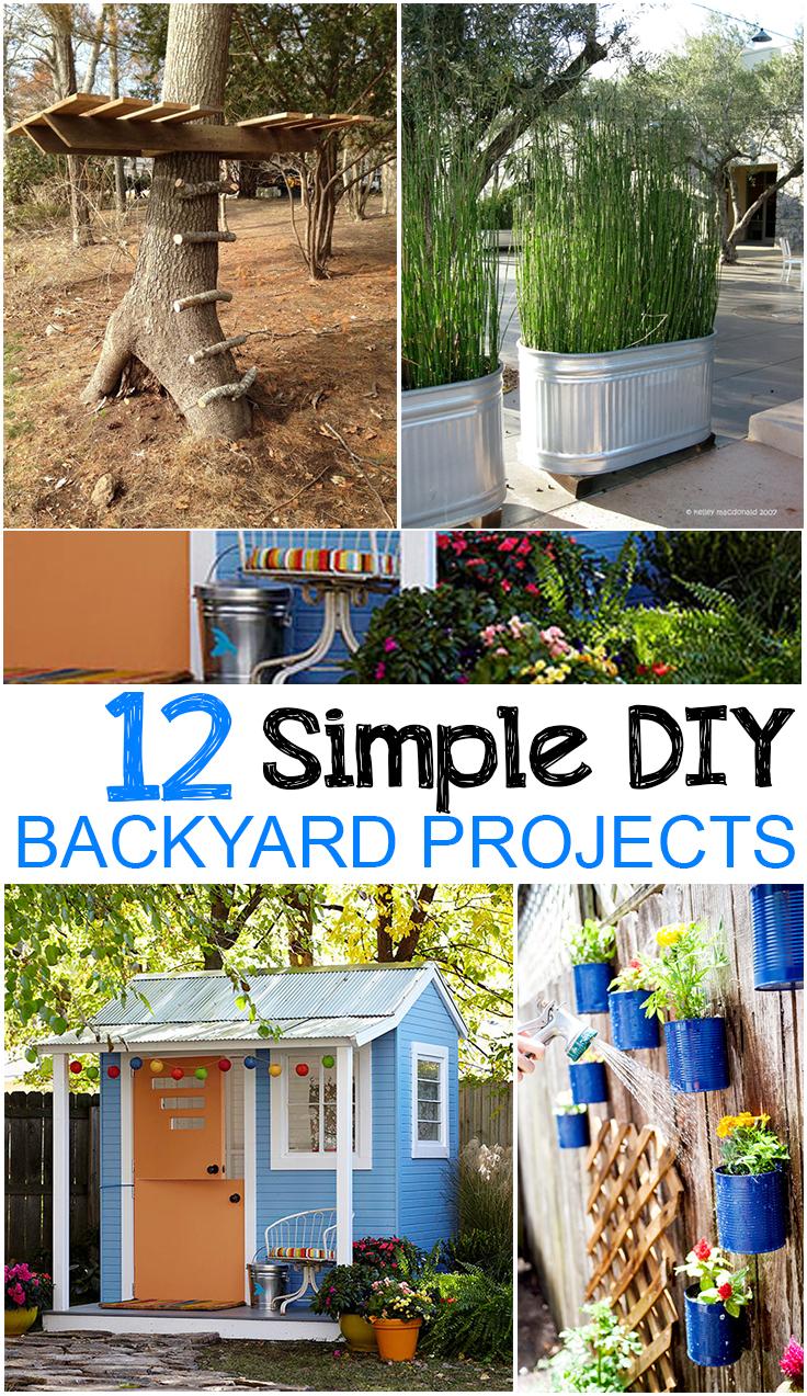 12 Easy DIY Backyard Projects