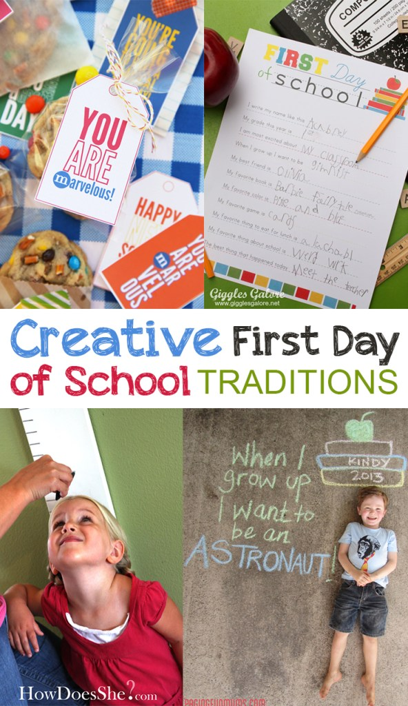 Creative First Day of School Traditions
