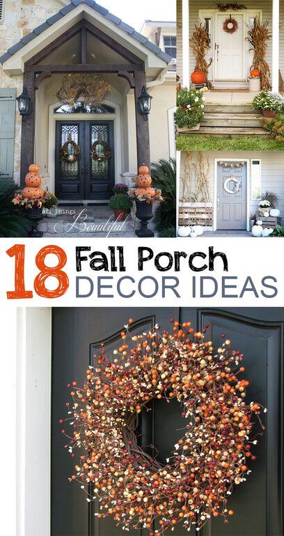 18 Fall Porch Decor Ideas
