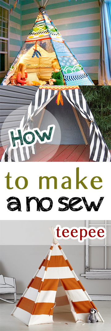No sew teepee, no sew projects, craft projects, easy DIY, simple projects, popular pin, weekend projects.