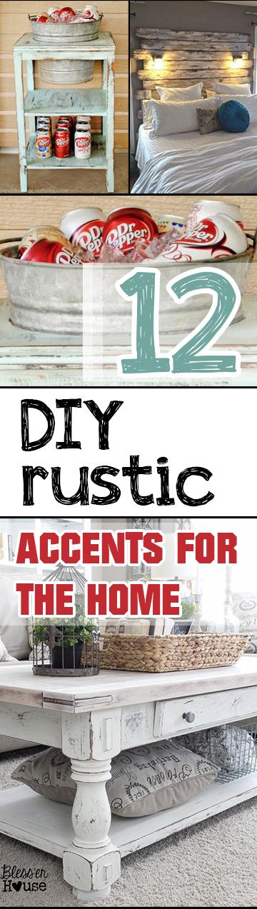 DIY Accents, Rustic Accents, DIY Home Decor, Home Decor, DIY Home, DIY Tutorials, Easy DIY, Interior Design, Interior Design Hacks