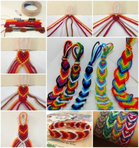 12 Super Simple Homemade Bracelet Tutorials2