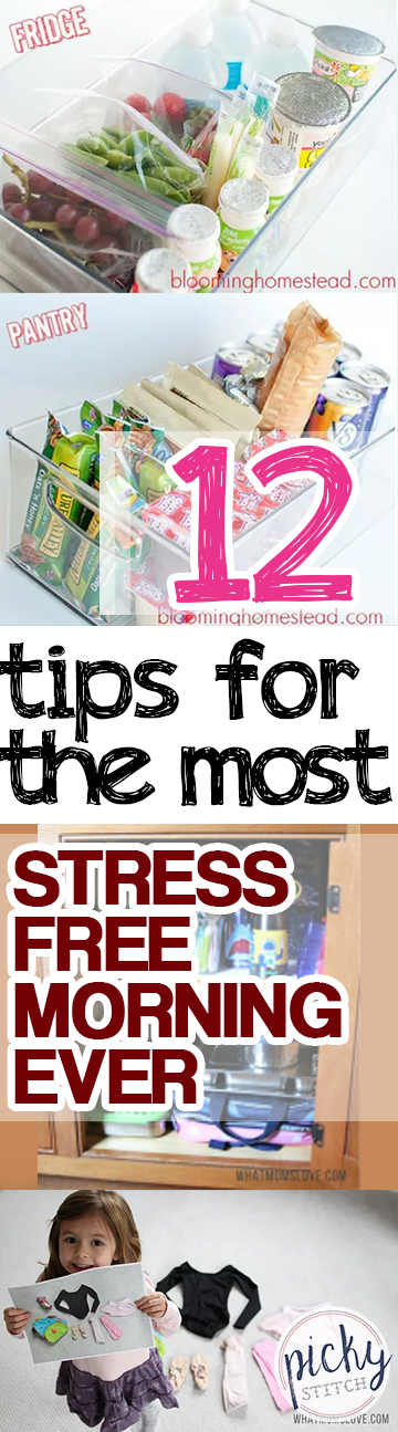 Morning Tips, Stress Free Morning Tips, Kids and Parenting, How to Get Ready Quicker, Life Hacks, Life Tips and Tricks, Parenting Tips, Popular Pin