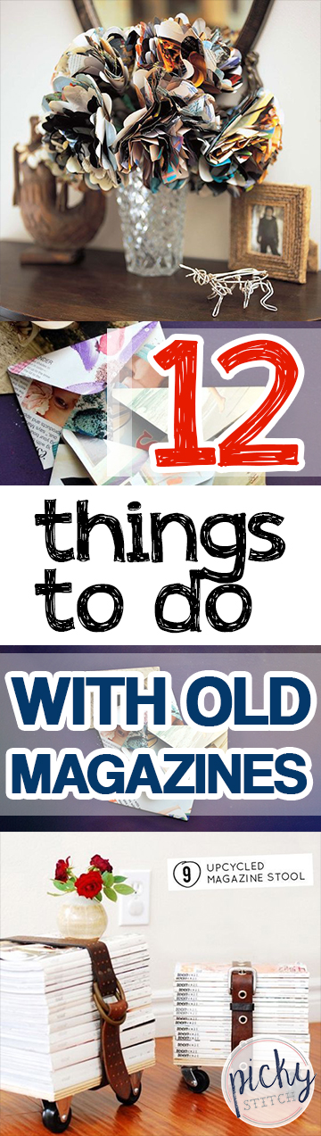 12 Things to Do With Old Magazines. How to Decorate With Old Magazines, Decorating With Old Magazines, Magazines, Crafting Tips, How to Craft With Magazines, Crafting With Magazines, Tips and Tricks, Easy Craft Projects.