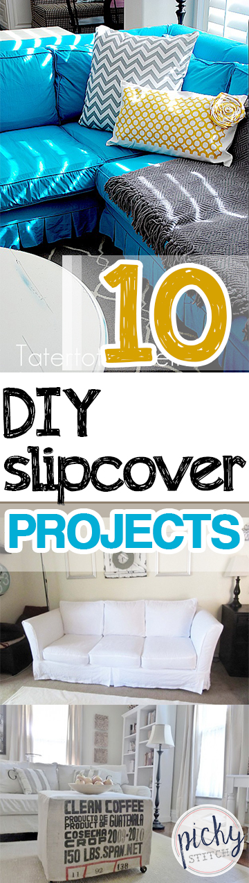 10 DIY Slipcover Projects - DIY Slipcovers, How to Make Your Own Slip Covers, Home Projects, Home Tips and Tricks, DIY Home Improvement, DIY Home Hacks, Crafts, No Sew Crafts, No Sew Slip Cover Projects