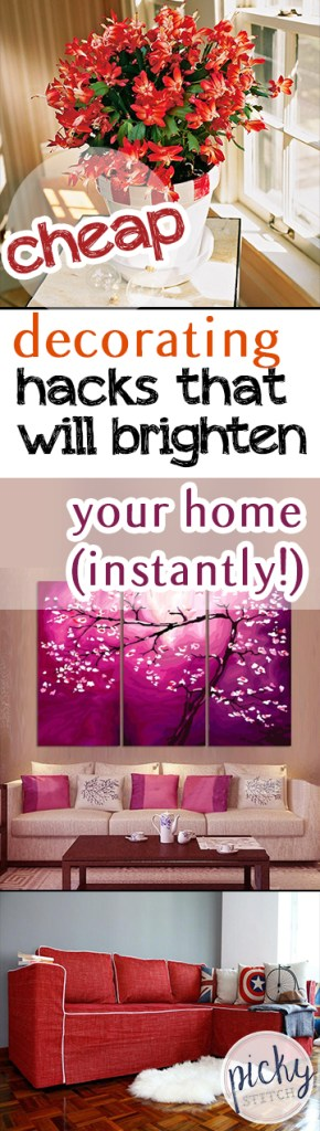 Cheap Decorating Hacks That Will Brighten Your Home (Instantly!) - Home Remodeling, Home Remodeling Hacks, How to Remodel Your Home, Fast Ways to Brighten Your Home, Brighten Your Home Easily, Easy Ways to Brighten Your Home, Inexpensive Home Updates, Popular Pin