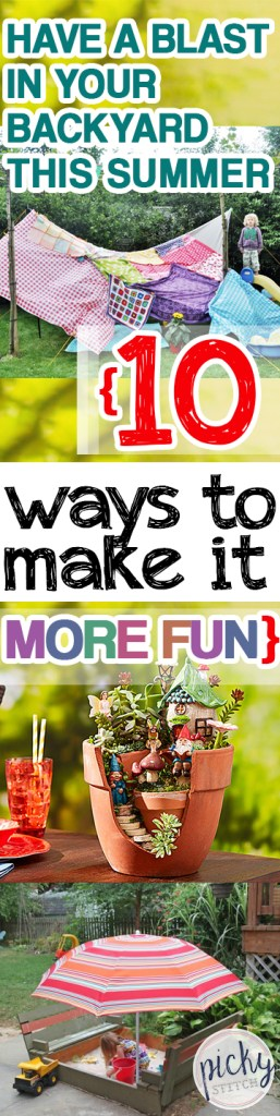 Have a Blast In Your Backyard This Summer {10 Ways to Make It More Fun} - Summer Fun, Summer Fun for Kids, Summer Stuff for Kids, Summer Activities for Kids, Backyard Fun, Backyard Tips and Tricks, Backyard Fun