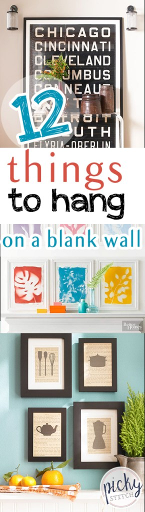 12 Things to Hang on a Blank Wall| Hang Things on A Blank Wall, Blank Wall Hangings, DIY Wall Decor, DIY Wall Decor Ideas, How to Decorate Your Walls, Home Decor, DIY Home Decor, Popular Pin