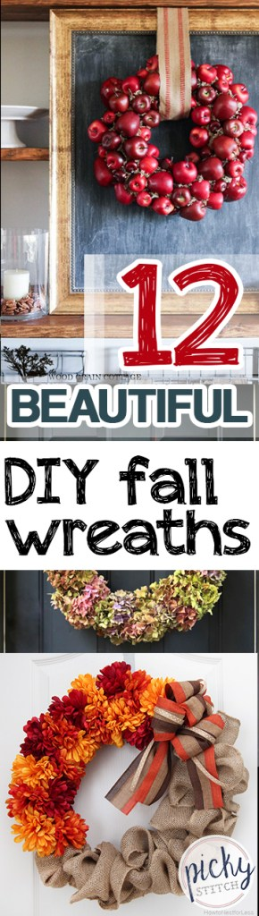 12 Beautiful DIY Fall Wreaths| DIY Fall Wreaths, Wreaths for Fall, Fall Porch Decor, DIY Porch Decor, Fall Wreaths, Front Porch Decor, DIY Front Porch Decor, Popular Pin