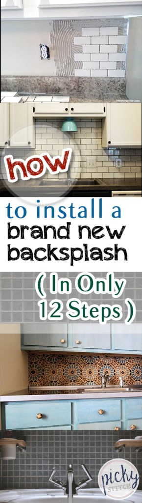 How to Install a New Backsplash, DIY Home, DIY Home Improvements, Home Improvement Projects, DIY Kitchen Remodel, Backsplash Tutorial, DIY Backsplash Tutorial, DIY Home, Home Remodeling Projects, Popular Pin