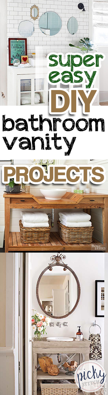Diy Bathroom Projects super easy diy bathroom vanity projects - picky stitch