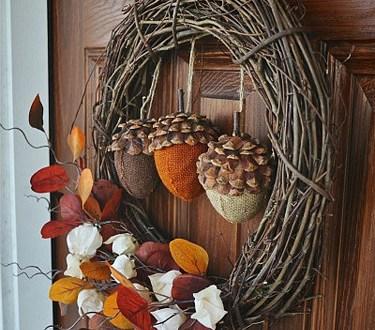 12 Beautiful DIY Fall Wreaths| DIY Fall Wreaths, Wreaths for Fall, Fall Porch Decor, DIY Porch Decor, Fall Wreaths, Front Porch Decor, DIY Front Porch Decor, Popular Pin
