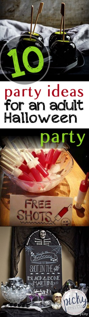 10 Party Ideas for An Adult Halloween Party| Halloween Party Ideas, Adult Halloween Party, Party Ideas for Halloween, Halloween Party DIYs, Halloween Party Decor, Party Decor for Halloween, Party Decor Ideas, How to Throw A Halloween Party