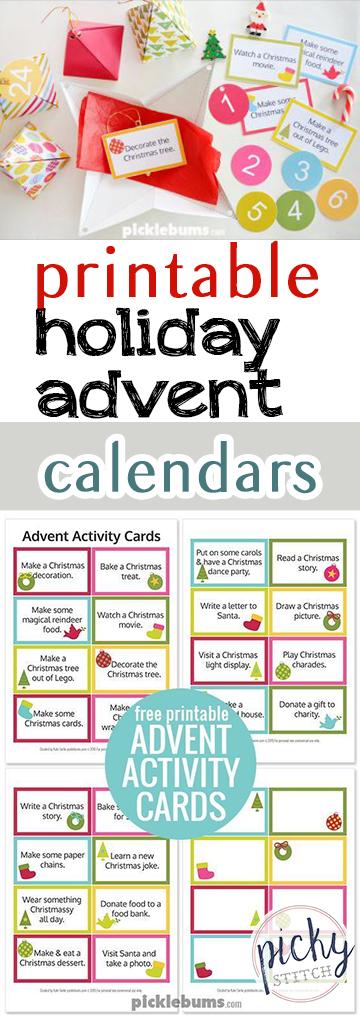 Printable Holiday Advent Calendars| Holiday Advent Calendars, Printable Advent Calendars, Advent Calendar Projects, Printables, Free Printables, Holiday Advent Calendars, DIY Advent Calendars, Holiday Hacks, Popular Pin
