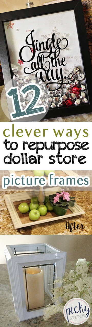 12 Clever Ways to Repurpose Dollar Store Picture Frames - Picky Stitch