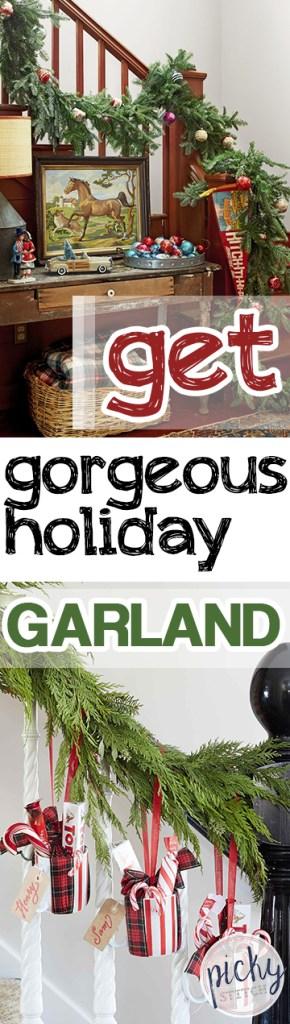 Get Gorgeous Holiday Garland| Holiday Garland, DIY Holiday Garland, Christmas, Christmas Tips and Tricks, Christmas Decor, DIY Christmas Decor #Christmas #ChristmasDecor #DIYChristmas