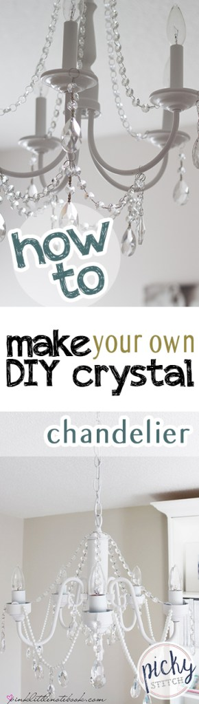 How to Make Your Own DIY Crystal Chandelier|  DIY Crystal Chandelier, Crystal Chandelier Projects, DIY Lighting, Lighting Projects, Crystal Chandeliers, Popular Pin #CrystalChandeliers #Chandelier #DIYLighting